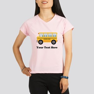School Bus Personalized Performance Dry T-Shirt
