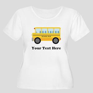 School Bus Personalized Women's Plus Size Scoop Ne