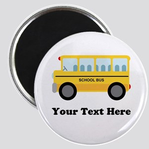 School Bus Personalized Magnet