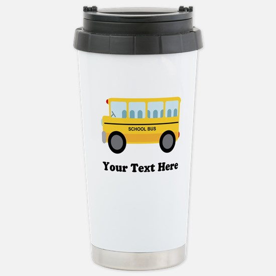 School Bus Personalized Stainless Steel Travel Mug