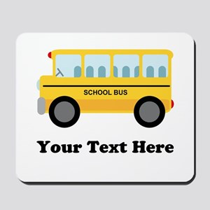 School Bus Personalized Mousepad