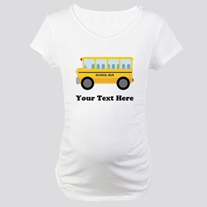 School Bus Personalized Maternity T-Shirt