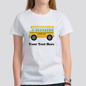 School Bus Personalized Women's T-Shirt