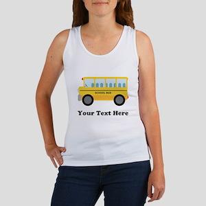 School Bus Personalized Women's Tank Top