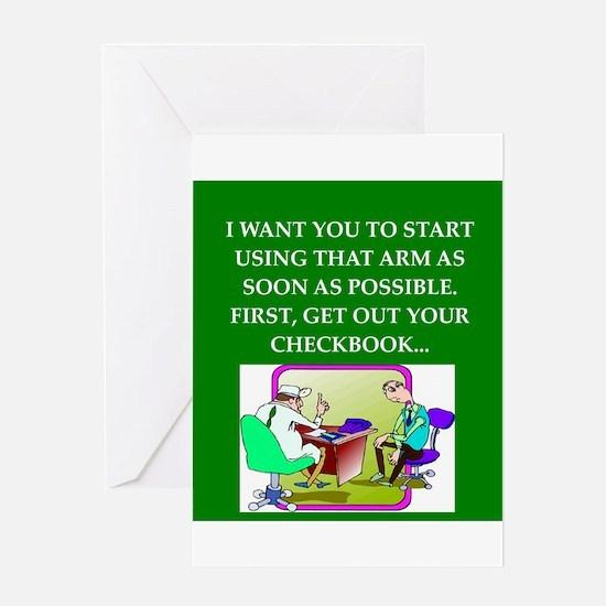 funny doctor joke Greeting Card
