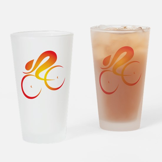 Vivid Speed Cycle Drinking Glass