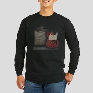 Guitar & Amp Mosaic Long Sleeve Dark T-Shirt