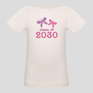 Sweet Class of 2030 Butterflies Organic Baby T-Shi