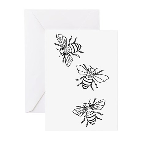 Honey Bees Greeting Cards (Pk of 20)