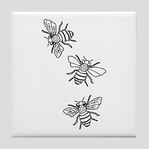 Honey Bees Tile Coaster