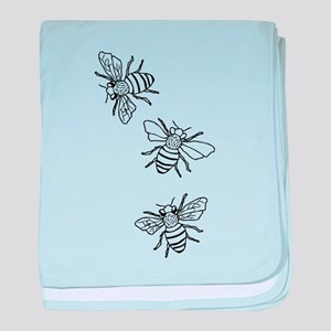 Honey Bees baby blanket