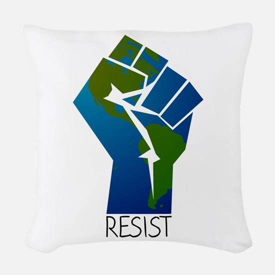 Resist Climate Change Woven Throw Pillow