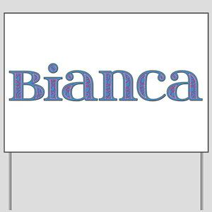Bianca Blue Glass Yard Sign