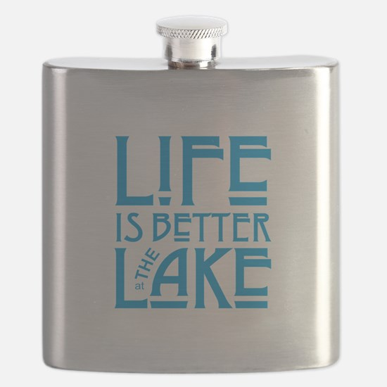 Life is Better at the Lake Flask