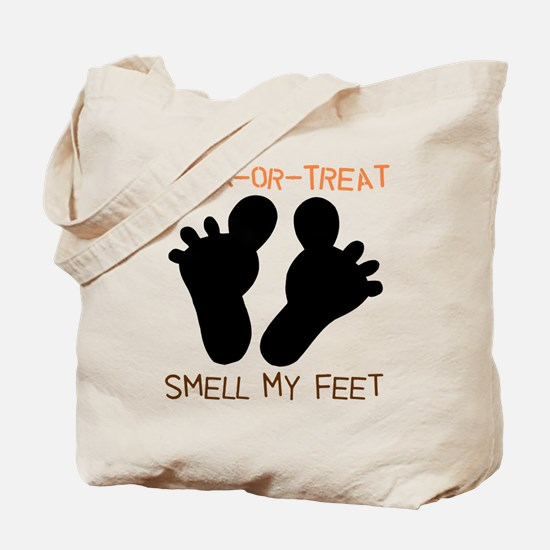 Smell My Feet Halloween Tote Bag