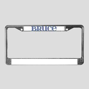 Bruce Blue Glass License Plate Frame