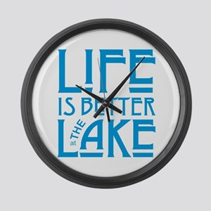 Life is Better at the Lake Large Wall Clock