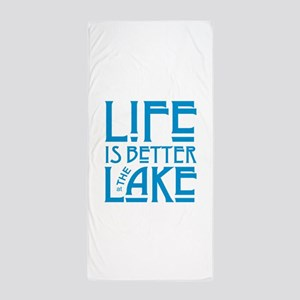 Life is Better at the Lake Beach Towel