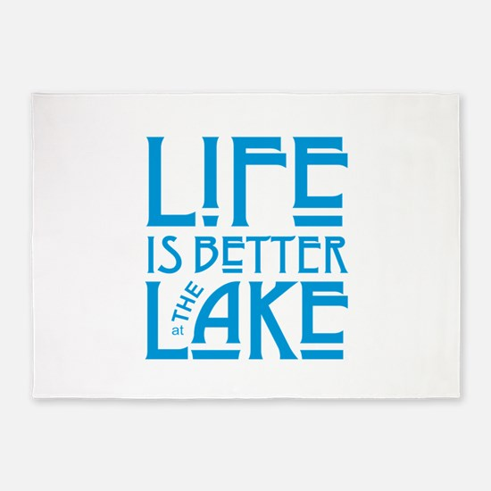 Life is Better at the Lake 5'x7'Area Rug