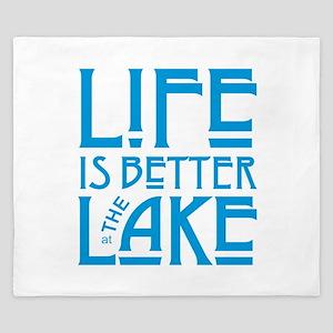 Life is Better at the Lake King Duvet