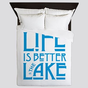Life is Better at the Lake Queen Duvet