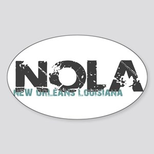 NOLA New Orleans Turquoise Gray Sticker