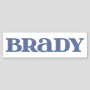 Brady Blue Glass Bumper Sticker