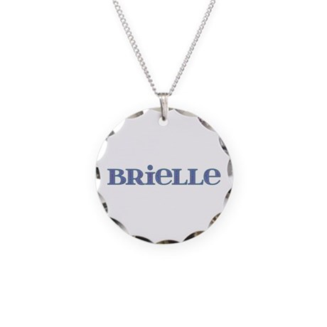 Brielle Blue Glass Necklace Circle Charm