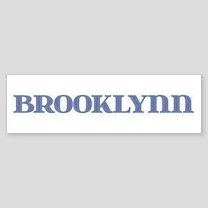 Brooklynn Blue Glass Bumper Sticker