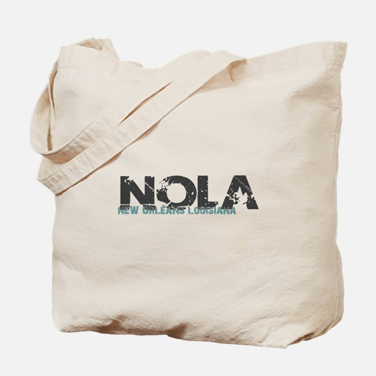 NOLA New Orleans Turquoise Gray Tote Bag