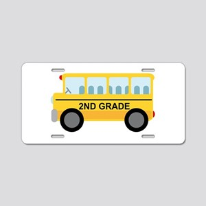 2nd Grade School Bus Aluminum License Plate