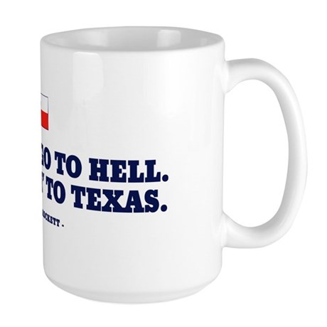 Y'all can go to hell. Large Mug