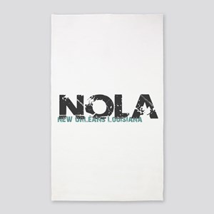 NOLA New Orleans Turquoise Gray Area Rug