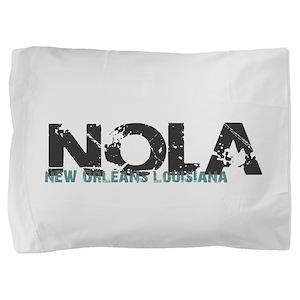 NOLA New Orleans Turquoise Gray Pillow Sham