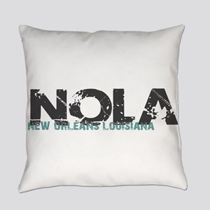 NOLA New Orleans Turquoise Gray Everyday Pillow