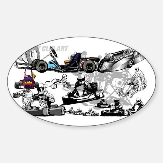 Cute Karting Sticker (Oval)
