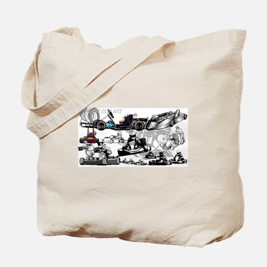 Cute Go kart Tote Bag