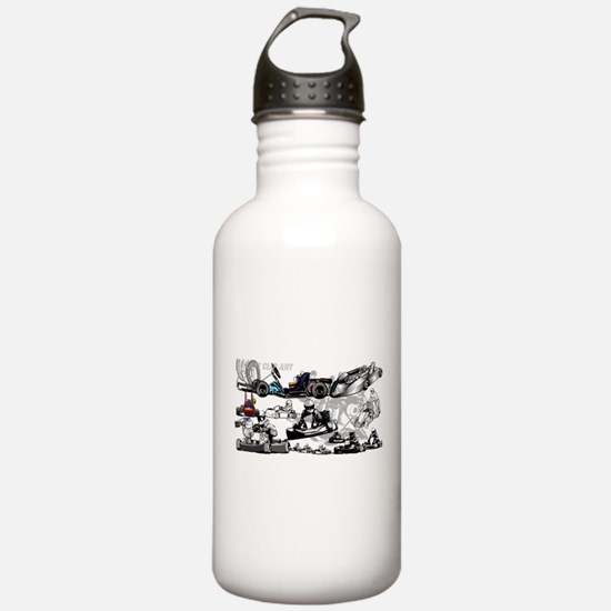 Cute Go karting Water Bottle