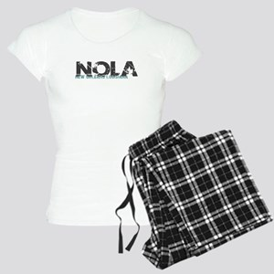 NOLA New Orleans Turquoise Gray Pajamas