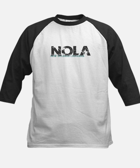NOLA New Orleans Turquoise Gray Baseball Jersey