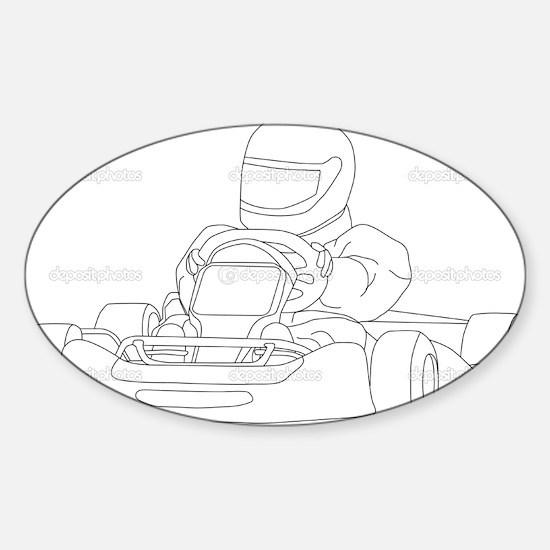 Unique Karting Sticker (Oval)