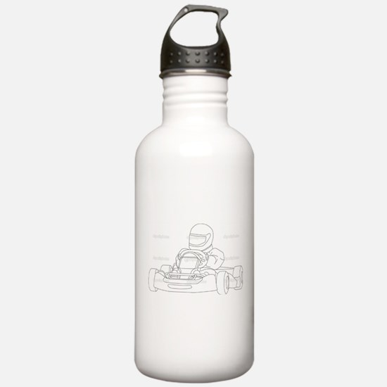 Unique Go karting Water Bottle