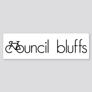 Bike Council Bluffs Sticker (Bumper)