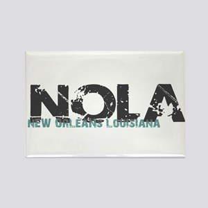 NOLA New Orleans Turquoise Gray Magnets