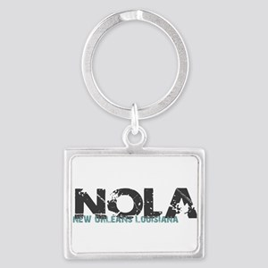 NOLA New Orleans Turquoise Gray Keychains