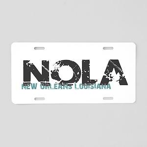 NOLA New Orleans Turquoise Aluminum License Plate