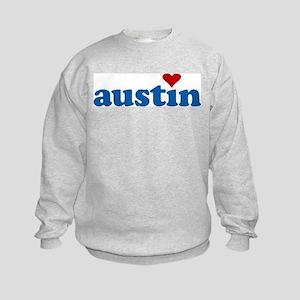 i love austin Kids Sweatshirt