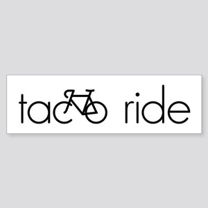 Taco Ride Sticker (Bumper)