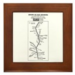 Conrail Fox Chase Timetable Framed Tile