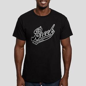 Breck Baseball Logo Men's Fitted T-Shirt (dark)